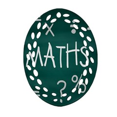 Maths School Multiplication Additional Shares Ornament (oval Filigree) by Mariart