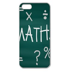 Maths School Multiplication Additional Shares Apple Seamless Iphone 5 Case (clear) by Mariart