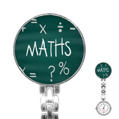 Maths School Multiplication Additional Shares Stainless Steel Nurses Watch by Mariart
