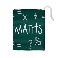 Maths School Multiplication Additional Shares Drawstring Pouches (large)  by Mariart