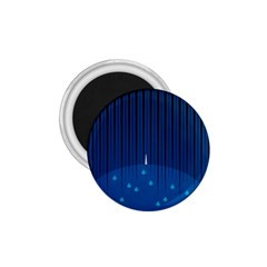 Rain Blue Sky Water Black Line 1 75  Magnets by Mariart