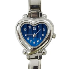 Rain Blue Sky Water Black Line Heart Italian Charm Watch by Mariart