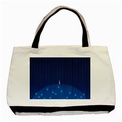Rain Blue Sky Water Black Line Basic Tote Bag by Mariart