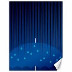 Rain Blue Sky Water Black Line Canvas 18  X 24   by Mariart