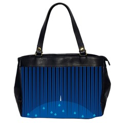 Rain Blue Sky Water Black Line Office Handbags (2 Sides)  by Mariart