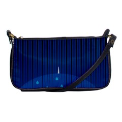 Rain Blue Sky Water Black Line Shoulder Clutch Bags by Mariart