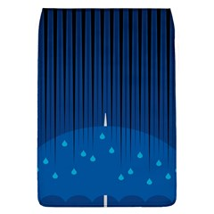 Rain Blue Sky Water Black Line Flap Covers (l)  by Mariart