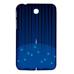 Rain Blue Sky Water Black Line Samsung Galaxy Tab 3 (7 ) P3200 Hardshell Case  by Mariart