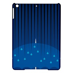Rain Blue Sky Water Black Line Ipad Air Hardshell Cases by Mariart