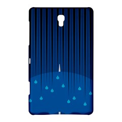 Rain Blue Sky Water Black Line Samsung Galaxy Tab S (8 4 ) Hardshell Case  by Mariart