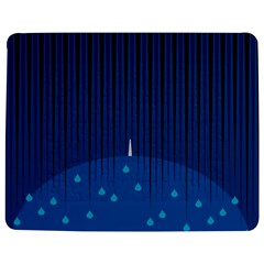 Rain Blue Sky Water Black Line Jigsaw Puzzle Photo Stand (rectangular) by Mariart