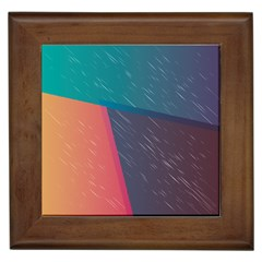 Modern Minimalist Abstract Colorful Vintage Adobe Illustrator Blue Red Orange Pink Purple Rainbow Framed Tiles by Mariart