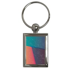 Modern Minimalist Abstract Colorful Vintage Adobe Illustrator Blue Red Orange Pink Purple Rainbow Key Chains (rectangle)  by Mariart