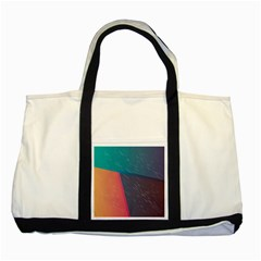 Modern Minimalist Abstract Colorful Vintage Adobe Illustrator Blue Red Orange Pink Purple Rainbow Two Tone Tote Bag by Mariart
