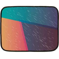Modern Minimalist Abstract Colorful Vintage Adobe Illustrator Blue Red Orange Pink Purple Rainbow Double Sided Fleece Blanket (mini)  by Mariart