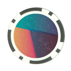 Modern Minimalist Abstract Colorful Vintage Adobe Illustrator Blue Red Orange Pink Purple Rainbow Poker Chip Card Guard (10 Pack) by Mariart