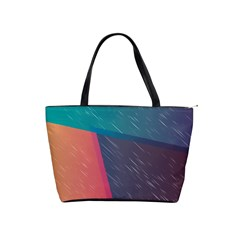 Modern Minimalist Abstract Colorful Vintage Adobe Illustrator Blue Red Orange Pink Purple Rainbow Shoulder Handbags by Mariart