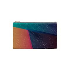 Modern Minimalist Abstract Colorful Vintage Adobe Illustrator Blue Red Orange Pink Purple Rainbow Cosmetic Bag (small)  by Mariart