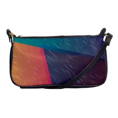 Modern Minimalist Abstract Colorful Vintage Adobe Illustrator Blue Red Orange Pink Purple Rainbow Shoulder Clutch Bags by Mariart