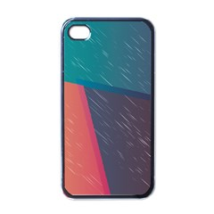 Modern Minimalist Abstract Colorful Vintage Adobe Illustrator Blue Red Orange Pink Purple Rainbow Apple Iphone 4 Case (black) by Mariart