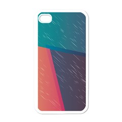 Modern Minimalist Abstract Colorful Vintage Adobe Illustrator Blue Red Orange Pink Purple Rainbow Apple Iphone 4 Case (white) by Mariart