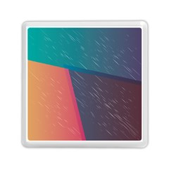 Modern Minimalist Abstract Colorful Vintage Adobe Illustrator Blue Red Orange Pink Purple Rainbow Memory Card Reader (square)  by Mariart
