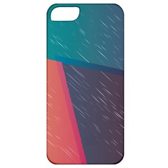 Modern Minimalist Abstract Colorful Vintage Adobe Illustrator Blue Red Orange Pink Purple Rainbow Apple Iphone 5 Classic Hardshell Case by Mariart
