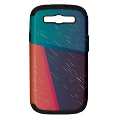 Modern Minimalist Abstract Colorful Vintage Adobe Illustrator Blue Red Orange Pink Purple Rainbow Samsung Galaxy S Iii Hardshell Case (pc+silicone) by Mariart