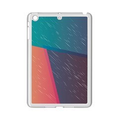Modern Minimalist Abstract Colorful Vintage Adobe Illustrator Blue Red Orange Pink Purple Rainbow Ipad Mini 2 Enamel Coated Cases