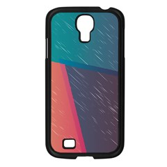 Modern Minimalist Abstract Colorful Vintage Adobe Illustrator Blue Red Orange Pink Purple Rainbow Samsung Galaxy S4 I9500/ I9505 Case (black) by Mariart