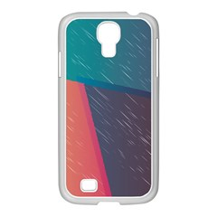 Modern Minimalist Abstract Colorful Vintage Adobe Illustrator Blue Red Orange Pink Purple Rainbow Samsung Galaxy S4 I9500/ I9505 Case (white) by Mariart