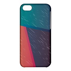 Modern Minimalist Abstract Colorful Vintage Adobe Illustrator Blue Red Orange Pink Purple Rainbow Apple Iphone 5c Hardshell Case by Mariart