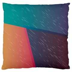 Modern Minimalist Abstract Colorful Vintage Adobe Illustrator Blue Red Orange Pink Purple Rainbow Large Flano Cushion Case (one Side) by Mariart