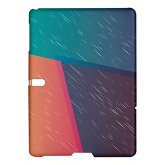 Modern Minimalist Abstract Colorful Vintage Adobe Illustrator Blue Red Orange Pink Purple Rainbow Samsung Galaxy Tab S (10 5 ) Hardshell Case  by Mariart