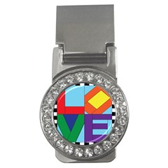 Rainbow Love Money Clips (cz)  by Mariart