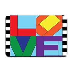 Rainbow Love Small Doormat  by Mariart