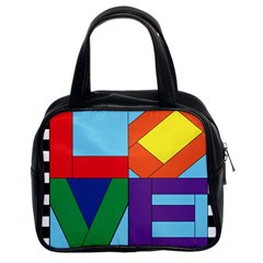 Rainbow Love Classic Handbags (2 Sides) by Mariart