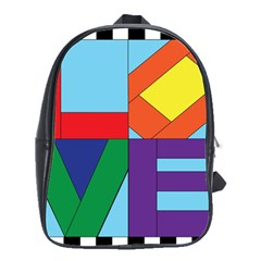 Rainbow Love School Bags(large)