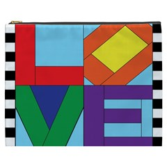 Rainbow Love Cosmetic Bag (xxxl)  by Mariart