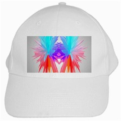 Poly Symmetry Spot Paint Rainbow White Cap by Mariart