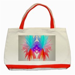 Poly Symmetry Spot Paint Rainbow Classic Tote Bag (red) by Mariart