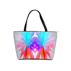 Poly Symmetry Spot Paint Rainbow Shoulder Handbags by Mariart