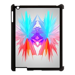 Poly Symmetry Spot Paint Rainbow Apple Ipad 3/4 Case (black) by Mariart