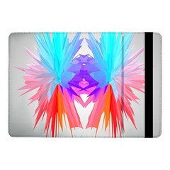 Poly Symmetry Spot Paint Rainbow Samsung Galaxy Tab Pro 10 1  Flip Case by Mariart