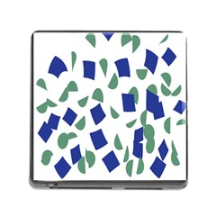 Scatter Geometric Brush Blue Gray Memory Card Reader (square) by Mariart