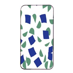 Scatter Geometric Brush Blue Gray Apple Iphone 4/4s Seamless Case (black) by Mariart
