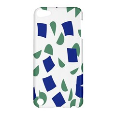 Scatter Geometric Brush Blue Gray Apple Ipod Touch 5 Hardshell Case by Mariart