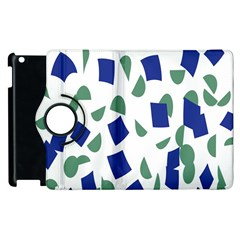 Scatter Geometric Brush Blue Gray Apple Ipad 3/4 Flip 360 Case by Mariart