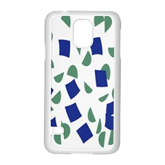 Scatter Geometric Brush Blue Gray Samsung Galaxy S5 Case (white) by Mariart