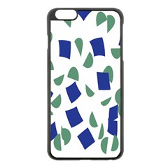 Scatter Geometric Brush Blue Gray Apple Iphone 6 Plus/6s Plus Black Enamel Case by Mariart